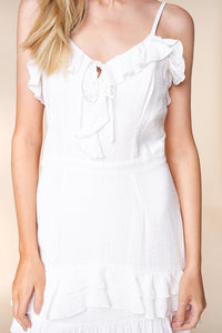 By Your Side Sleeveless Ruffle Mini Dress