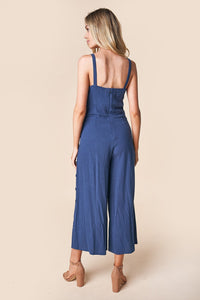 Orlando Wide Leg Button Detail Jumpsuit