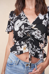 Starlett Floral Crop Top