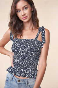 Ravello Floral Smocked Top