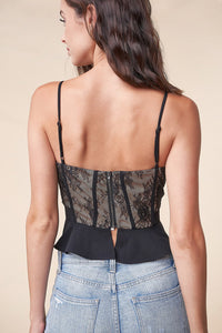 Lady Marmalade Lace Peplum Top