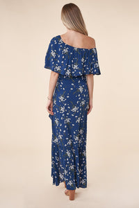 On My Mind One Shoulder Ruffle Maxi Dress