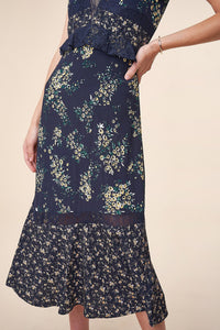 Lovely Day Mix Media Floral Maxi Dress