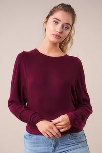 Storee Open Back Sweater