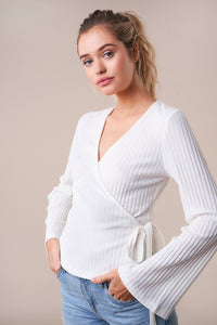 Rover Ribbed Knit Wrap Top
