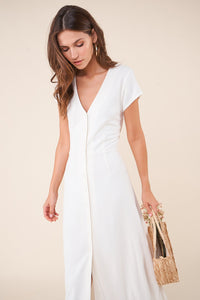 Capri Button Front Maxi Dress