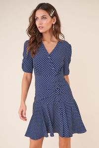 Venice Boardwalk Polka Dot Button Down Dress