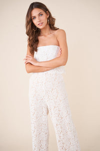 Lust For Love Strapless Lace Jumpsuit