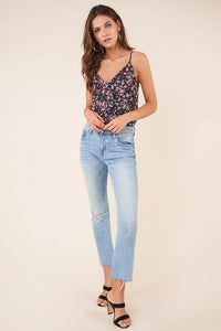 Flower Bomb Floral Ruffle Detail Cami