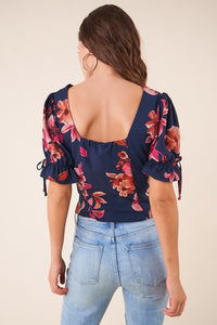 Divine Floral Button Up Blouse