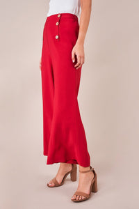 All Aboard Button Front Culotte Pants
