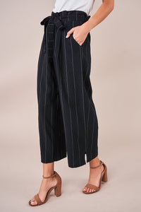 Emmie Striped Paper Bag Culotte Pants