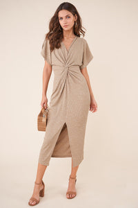 Camielle Twist Front Midi Dress