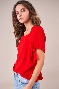 Valley Girl Tie Sleeve Top