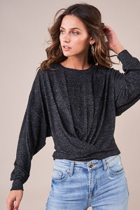 Cozy Cutie Long Sleeve Twist Knit Top