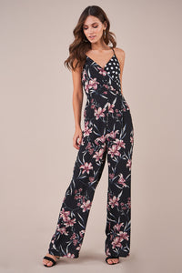 Maeji Mix Print Jumpsuit