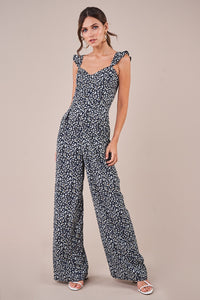 Summer Catch Floral Bustier Jumpsuit