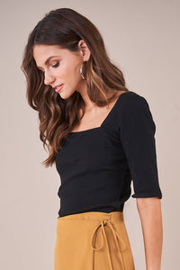 Gamma Ribbed Knit Top