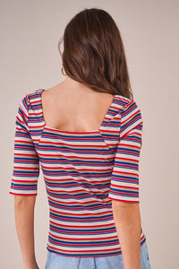 Alta Striped Rib Knit Top