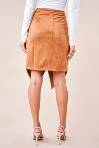 Billie Suede Wrap Mini Skirt
