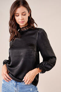 Let Me Love Lace Trim Blouse