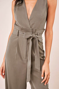 Walk Off Surplice Jumpsuit