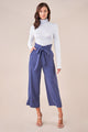 Saxson Wide Leg Paper Bag Pants