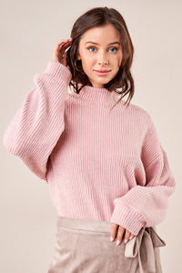 Calvin Ribbed Mock Neck Sweater