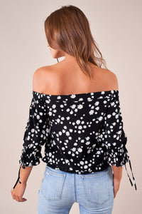 Ray Of Sunshine Floral Off The Shoulder Top
