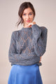Everett Long Sleeve Pointelle Sweater