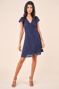 Chariot Lace Mini Wrap Dress