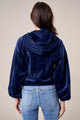 Atila Cropped Velour Jacket