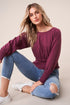 Claudette Smocked Crop Sweatshirt
