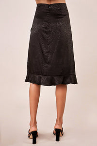 Rosemary Faux Wrap Ruffle Midi Skirt