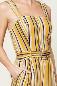 Zander Striped Wide Leg Jumpsuit