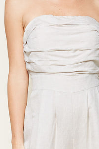 Brier Drive Strapless Wide Leg Jumpsuit