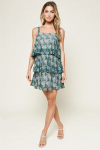 Loni Green Lace Mini Dress