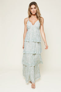 Good Life Tiered Lace Maxi Dress
