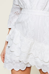 So Dreamy Mix Media Novelty Dress