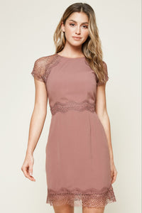 Decente Mixed Lace Mini Dress