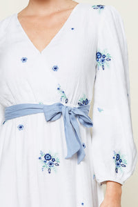 Starlight Floral Mini Wrap Dress