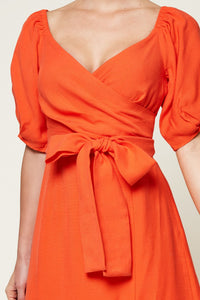 Elrita Off The Shoulder Balloon Sleeve Dress