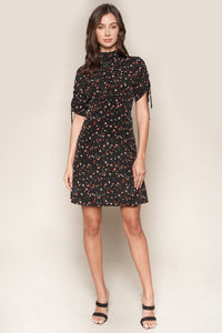 Lizbeth Floral High Neck Dress