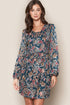 Elantra Long Sleeve Floral Mini Dress