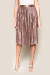 Rover Pleated Midi Skirt