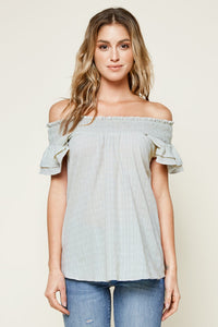 Not Your Average Short Sleeve Smocked Top