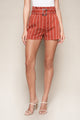 Cancun Striped Paper Bag Shorts