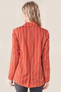 Cancun Striped Boyfriend Blazer