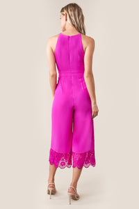 Forever Yours Lace Trim Jumpsuit