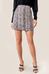Into The Wild Snake Print Mini Skirt